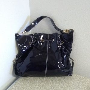 Dooney And Bourke Midnight Blue Patent Leather Bag
